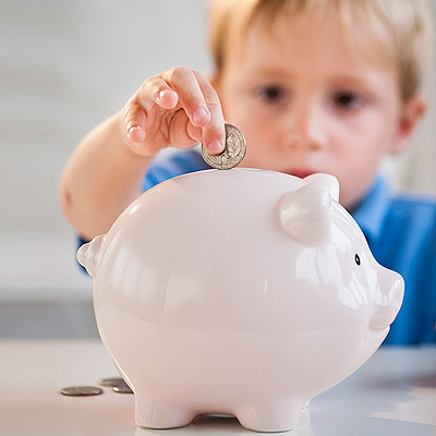 Image result for kid with a piggy bank